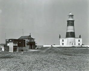 Orfordness_Lighthouse_1957_1958